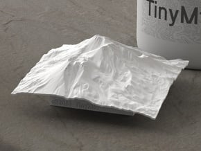 3'' Mt. Shasta, California, USA in White Natural Versatile Plastic