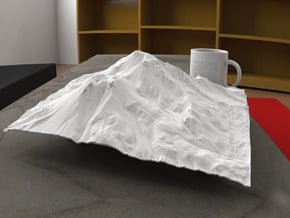 12'' Mt. Shasta, California, USA in White Natural Versatile Plastic