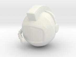 SpaceHelmetv3 in White Natural Versatile Plastic