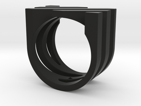 Ring - Juxta in Black Premium Versatile Plastic: 6 / 51.5