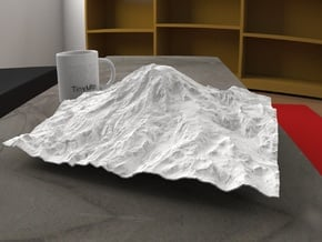 12'' Mt. Rainier, Washington, USA in White Natural Versatile Plastic
