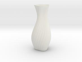 Hips Vase in White Natural Versatile Plastic