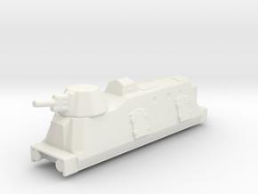 Panzerzüge artileriewagon armored train 2 1/144 in White Natural Versatile Plastic