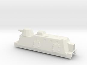 Panzerzüge artileriewagon armored train 1/144 in White Natural Versatile Plastic