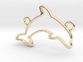 Dolphin Pendant in 14k Gold Plated Brass