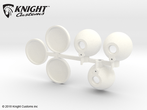 CT10002 C10 spot lights in White Processed Versatile Plastic