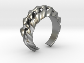 Echoing Sound Ring in Natural Silver