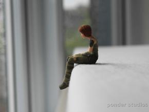 Sad Sintel: *Small* size 6.5 cm in Full Color Sandstone