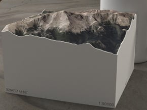 Pikes Peak, Colorado, USA, 1:50000 Explorer in Full Color Sandstone