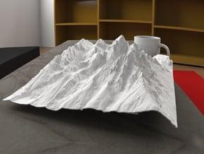 12'' Grand Tetons, Wyoming, USA in White Natural Versatile Plastic