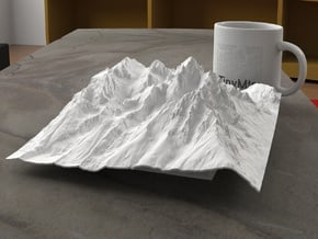 8'' Grand Tetons, Wyoming, USA in White Natural Versatile Plastic
