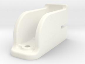 """Camel Co Door Track Support - 2.5"""" scale in White Processed Versatile Plastic"""