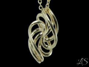 Rosett Three Pendant in Natural Brass: Small