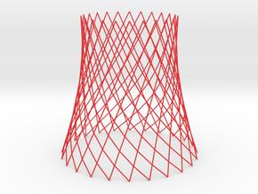 hyperboloid revolution bracelet 4in in Red Processed Versatile Plastic: Medium