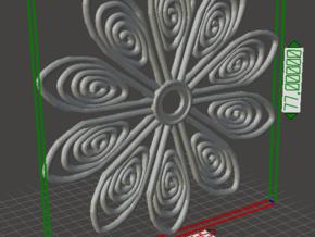 77mm TOS insignia flower in White Natural Versatile Plastic