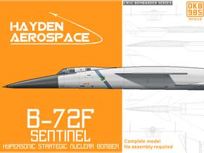 B-72F Hypersonic Strategic Bomber in Black Natural Versatile Plastic: 1:300