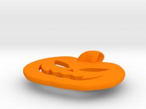 jack-o'-lantern pendant in Orange Processed Versatile Plastic