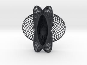 Enneper Curve Art + Nefertiti (001c) in Black PA12