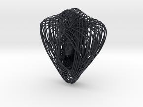 Celtic Knot Curve Art + Nefertiti (001c) in Black PA12