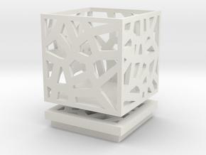Square Small Jewelry Box 2x2x2 inches in White Natural Versatile Plastic