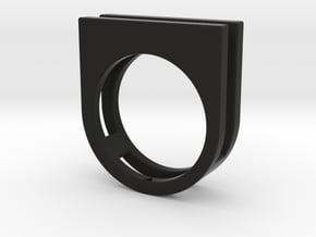 Ring - Equalit in Black Premium Versatile Plastic: 6 / 51.5