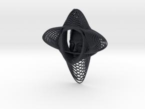 Wire Curve Art + Nefertiti (001d) in Black PA12