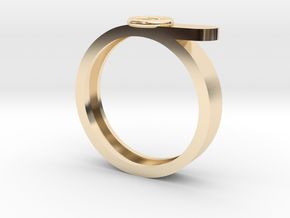 Button ring in 14K Yellow Gold: 5.5 / 50.25