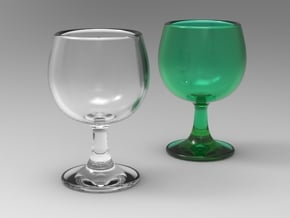 Wine Glass 1:6 scale in Smoothest Fine Detail Plastic