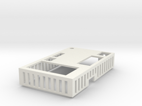 ElModCaseV2 Cover in White Natural Versatile Plastic