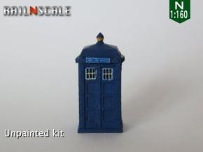 TARDIS / Police box Mk2 (N 1:160) in Smooth Fine Detail Plastic