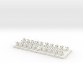 3mm DBA Light Cavalry Spears 40x30xx (x2) in White Natural Versatile Plastic