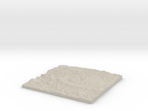 Model of Pri Jezeru in Natural Sandstone