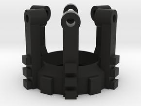 Part 02 C (crystal holder) in Black Natural Versatile Plastic