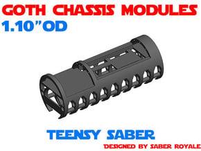 GCM110 - Teensy Saber + 18650 in White Natural Versatile Plastic