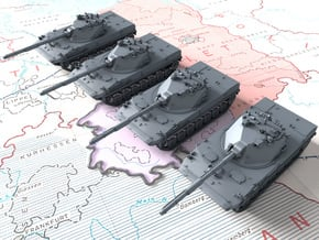 1/285 Russian 2S25 Sprut-SD Tank Destroyers x4 in Smooth Fine Detail Plastic