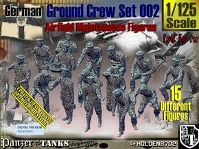 1/125 German Ground Crew Set002 in Smooth Fine Detail Plastic