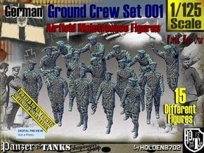 1/125 German Ground Crew Set001 in Smooth Fine Detail Plastic