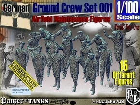 1/100 German Ground Crew Set001 in Smooth Fine Detail Plastic