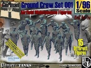 1/96 German Ground Crew Set001 in Smooth Fine Detail Plastic