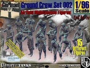 1/96 German Ground Crew Set002 in Smooth Fine Detail Plastic