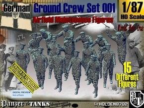 1/87 German Ground Crew Set001 in Smooth Fine Detail Plastic