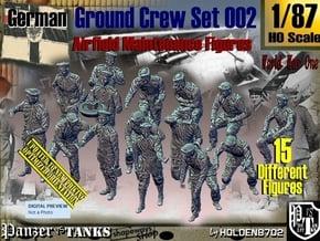 1/87 German Ground Crew Set002 in Smooth Fine Detail Plastic