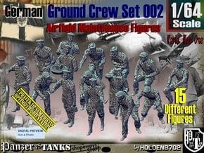 1/64 German Ground Crew Set002 in Smooth Fine Detail Plastic