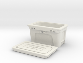 WPL 1/16th scale Yeti style cooler in White Natural Versatile Plastic