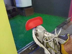 Sanitary Door Handle / Foot Door Handle in Red Processed Versatile Plastic
