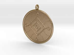 Cybernetics Symbol in Polished Gold Steel