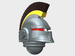 10x Crested - Ferrum Helmet in Smooth Fine Detail Plastic
