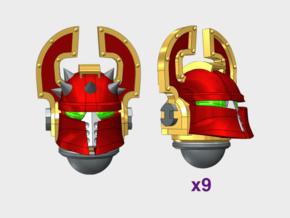 10x Wrecker Legion - Ferrum Helmets : Squad Set in Smooth Fine Detail Plastic