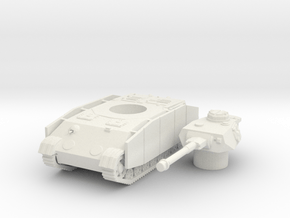 Panzer IV K (side skirts) scale 1/100 in White Natural Versatile Plastic
