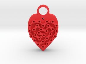Bike Life Heart pendant in Red Processed Versatile Plastic